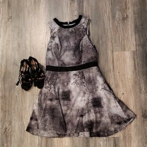 Black, gray,  white dress